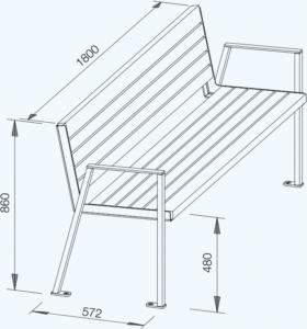 Gracilis technische Zeichnung