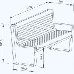 Placidus technische Zeichnung